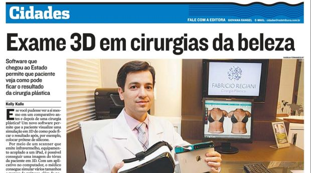 Exame 3D em cirurgias da beleza