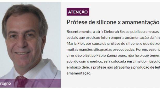Prótese de silicone x amamentação