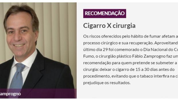 Cigarro x cirurgia